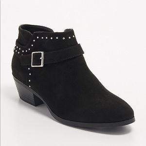 ELAINE FAUX SUEDE STUDDED BOOTIE